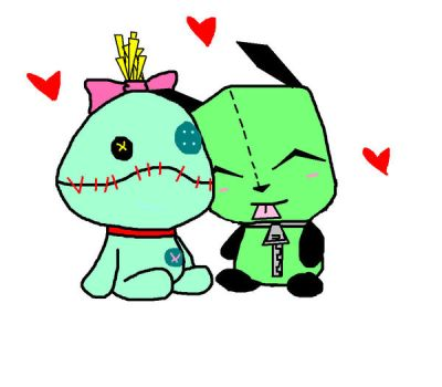 Gir and Stitch by AmyKee09