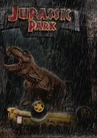 Jurassic Park - T-rex Main Road Attack by tomzj1