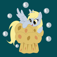 Shadowbox Mock-Up:  Derpy on a Muffin by The-Paper-Pony