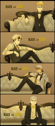 [Speedpaint] Pokemon- Black and Gold (VIDEO LINK) by Gameaddict1234