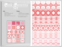 FREE - Pink Patterns Set by MissDidichan
