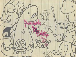 Doodle animals by Eddie by thelilartist
