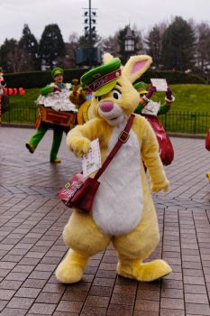 Rabbit in Christmas Parade by Aoi-the-kitsune