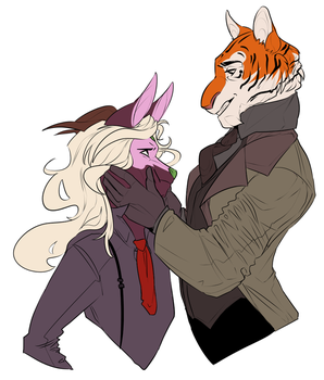 Smiling suits you more by marchenlune