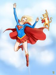 Supergirl and Streaky by DNM5555