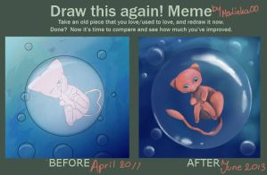 Draw this Again: Mew by Malinka00