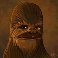 Daily Sketches Chewbacca by fedde