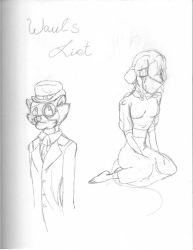 Rp Sketch - Wauls List EDIT by SexxiVexxi