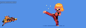 356/365 pixel art : Young Ken from Street Fighter by igorsandman