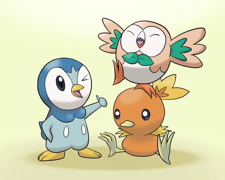 Pokemon - The Tweet Trio by Dynakirby63