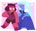 Young Ruby and Sapphire by kyoukorpse