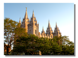 Evening at Salt Lake Temple by WillFactorMedia