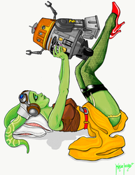 Pin-up Hera with Chopper by MikieHazard