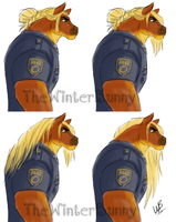 Officer Buckland - Zootopia OC by TheWinterBunny