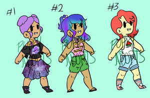 Chibi Adoptable Batch (OPEN, HALF-PRICE) by Pup-Loves-Characters