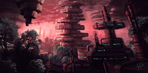 Cave City Sketch by mikemars