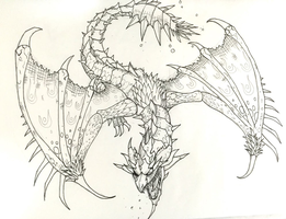 Rathian Sketch by Upchuck2