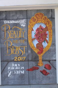 Beauty and the Beast Mural Close Up by klenae