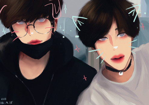 Jikook by Cosmicpens