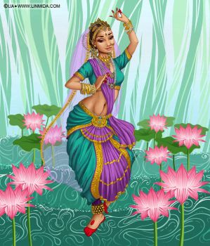 Indian Dancer by LiaSelina