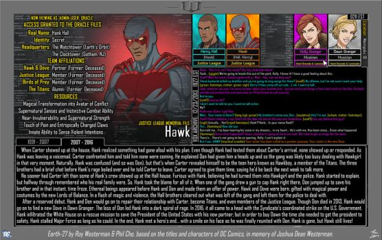 [Earth-27: Oracle Files] Hank Hall (2/2) by Roysovitch