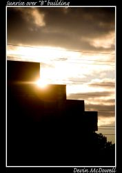 Sunrise over 'B' building by darkdrow66