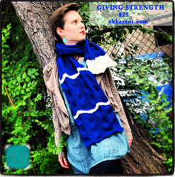 Fall Collection Sapphire Scarf by AKKerani