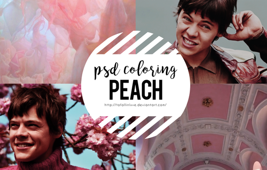 PSD COLORING #3 PEACH by ToFallinLxve