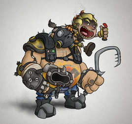 Overwatch - Roadhog and Junkrat by captainslam