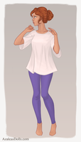 Details for leggings and T-shirts by AzaleasDolls