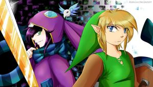 Ravio and Link by Alamino
