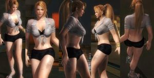 Sarah shirt hotpants by funnybunny666