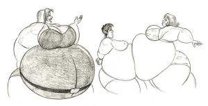 Claire and Miss Warner play with Overweight by FatClubInc