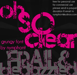 Frail and Bedazzled Font by nymphont