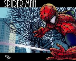 Spider-Man in the park by Richs-comics