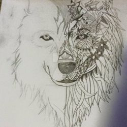 The detailed wolf by Blazethecat13