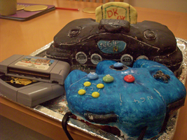 Nintendo 64 Cake by chimera-99