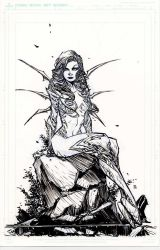 Witchblade on da rocks by BChing