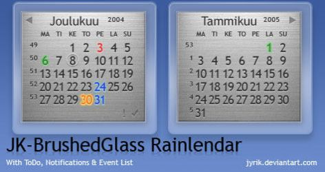 JK-BrushedGlass Rainlendar by JyriK