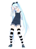 .: Casual Snow Miku:. by AuroraYok