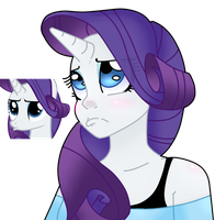 Pouty Rarity by Altimos0023