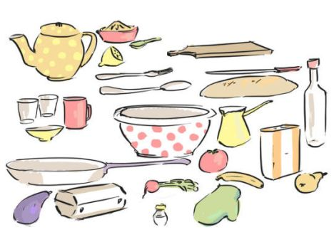 Utensils and foodstuff by 237Q-Dunja
