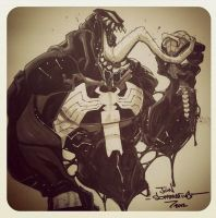 Con sketch :: Venom :: Spidey is dead by Red-J