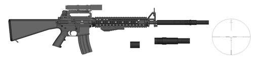 M16 Light Recon unfinished by Artmarcus