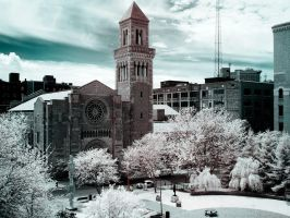 Fountain Street Church (930nm IR) by KBeezie