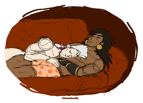 I love drawing couch snuggles by poiuytre00750