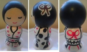 Japanese Kokeshi Couture Doll by Froggy-Spaztastic