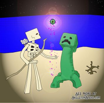 Minecraft Diary of a Creeper 07 by skeletonsteveco