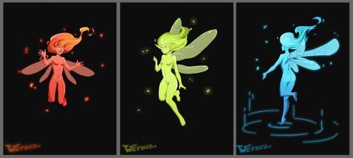RGB Fairies by Wersuz