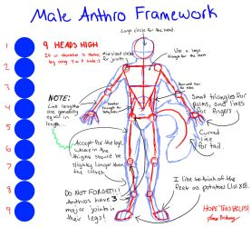 Male Anthro Framework by Blue-Seattle